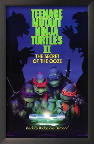 Teenage Mutant Ninja Turtles 2: The Secret of the Ooze Impressão artística emoldurada