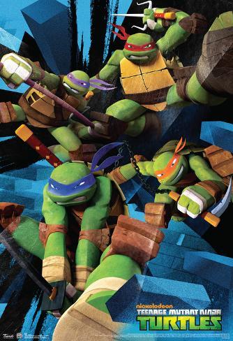 Teenage mutant ninja turtles attack cartoon teenage mutant ninja turtles attack cartoon poster voltagebd Gallery