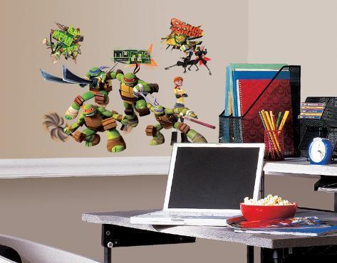 Teenage Mutant Ninja Turtles Peel u0026 Stick Wall Decals & Teenage Mutant Ninja Turtles Peel u0026 Stick Wall Decals Wall Decal ...