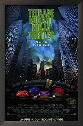 Teenage Mutant Ninja Turtles: The Movie Framed Art Print