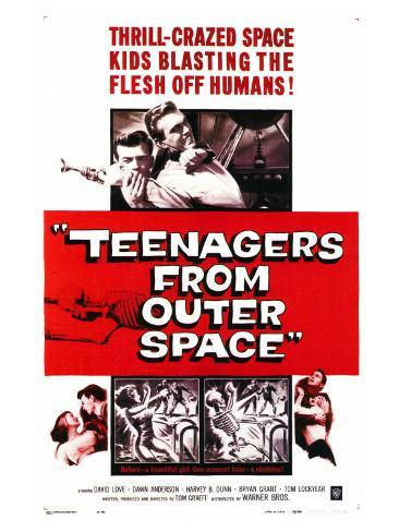 Teenagers From Outer Space, 1959 Art Print