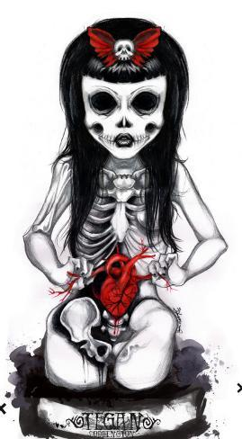 Undead Girl Stretched Canvas Print
