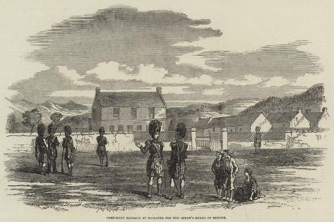Temporary Barrack at Ballater for the Queen's Guard of Honour Giclee Print