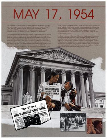 Ten Days That Shook the Nation - Brown v, Board of Education Art Print
