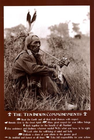 Ten Indian Commandments Poster At Allposters Com Au
