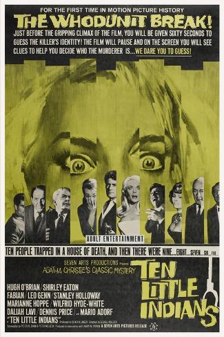 Ten Little Indians, (aka Agatha Christie's Ten Little Indians), 1965 Art Print
