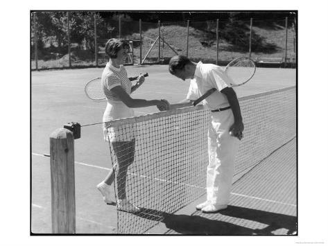 Tennis Chivalry 1930s Giclee Print