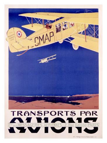 Transports par Avion Giclee Print