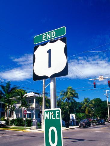 Mile Marker 0, Key West, Florida Keys, Florida, USA Photographic Print