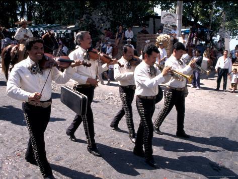 Parade along Main Street, City Center, Puerto Vallarta, Mexico Photographic Print