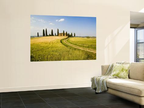 Tuscan Villa Nearing Harvest, Tuscany, Italy Wall Mural