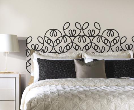 Testiera del letto moderna gigante sticker murale decalcomania da muro su - Testiera del letto ...