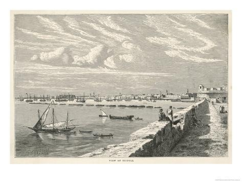 Port Scene of Tripoli Libya East Africa Which was Formerly a Phoenician Colony Giclee Print