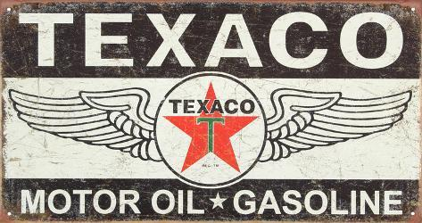 Texaco Winged Logo Distressed Retro Vintage Tin Sign Tin Sign