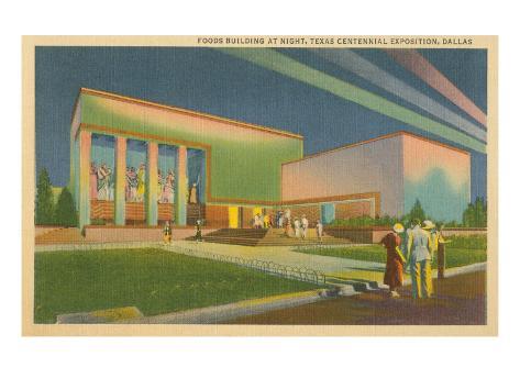 Texas Centennial Exposition, Dallas Stretched Canvas Print