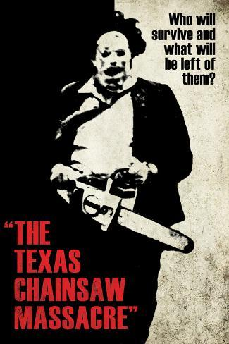 Texas Chainsaw Massacre- Leatherface Silhouette Póster