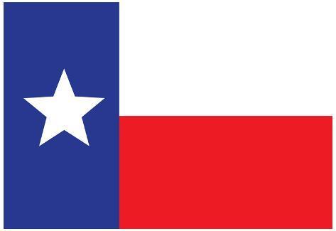 Texas Flag Art Print Poster Poster