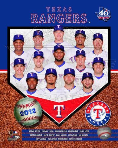 Texas Rangers 2012 Team Composite Photo