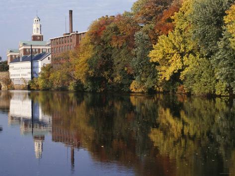 Textile Mills Along the Blackstone River, Pawtucket, Rhode Island Photographic Print