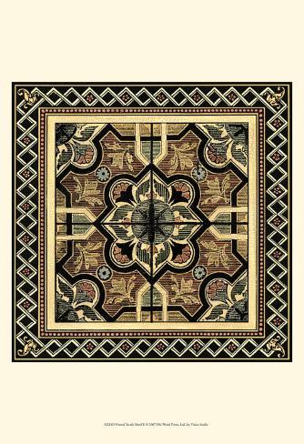 Textile Motif II Framed Art Print