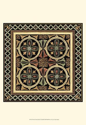 Textile Motif IV Framed Art Print