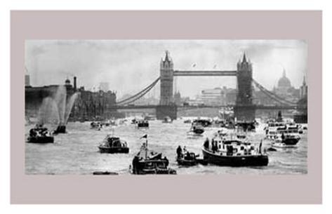 Thames River, June 1977 Konstprint