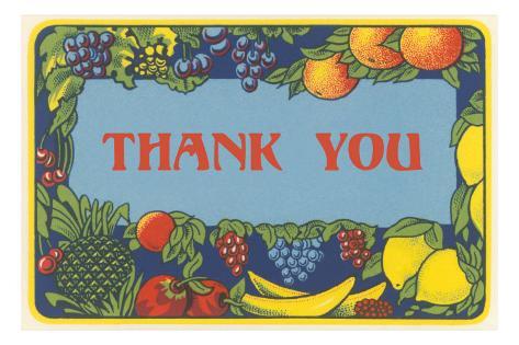 Thank You, Fruit Border Masterprint