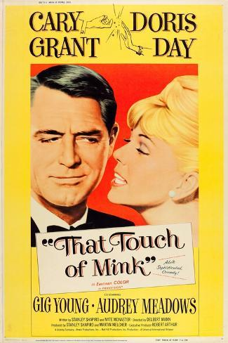 That Touch of Mink, Cary Grant, Doris Day, US poster art, 1962 Konstprint