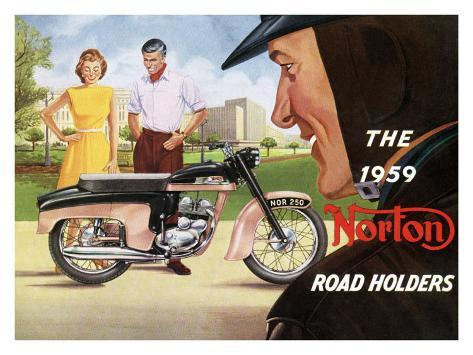 The 1959 Norton Road Holders Giclee Print