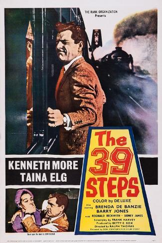 The 39 Steps, Kenneth More (Top), Bottom from Left: Taina Elg, Kenneth More, 1959 Art Print