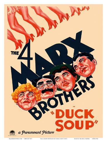 The 4 Marx Brothers in Duck Soup Art Print