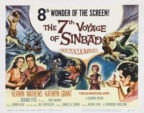 The 7th Voyage of Sinbad -  Style Poster