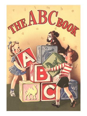 The ABC Cook Book, Children with Big Blocks Art Print