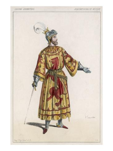 The Actor Baroilhet in the Role of Robert the Bruce, King of England Stretched Canvas Print