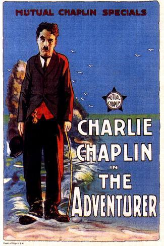 The Adventurer Movie Charlie Chaplin Edna Purviance Poster Print Poster