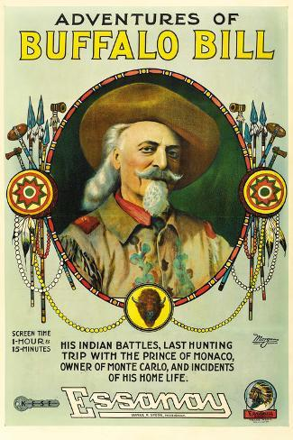 The Adventures of Buffalo Bill Movie Poster Print Poster