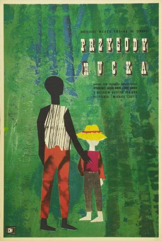 The Adventures of Huckleberry Finn - Polish Style Poster
