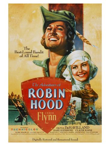 The Adventures of Robin Hood, 1938 Impressão artística