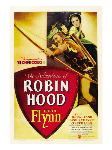 The Adventures of Robin Hood, Errol Flynn, Olivia De Havilland, 1938 Photo