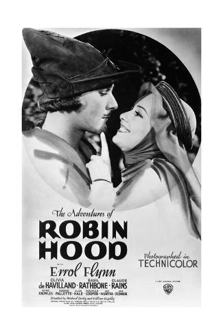 The Adventures of Robin Hood, from Left, Errol Flynn, Olivia De Havilland, 1938 Gicléetryck
