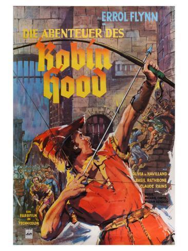 The Adventures of Robin Hood, German Movie Poster, 1938 Art Print