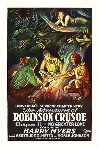 The Adventures of Robinson Crusoe Art Print
