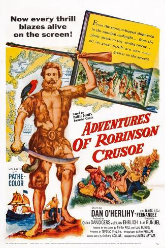 The Adventures of Robinson Crusoe Art Print