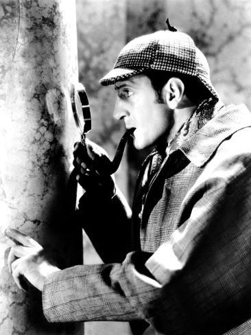 The Adventures of Sherlock Holmes, Basil Rathbone as Sherlock Holmes, 1939 Photo