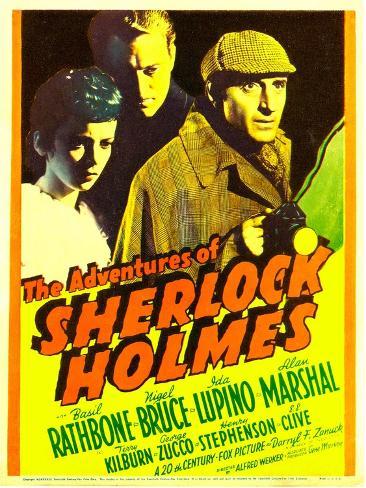 The Adventures of Sherlock Holmes, Ida Lupino, Alan Marshal, Basil Rathbone, 1939 Photo