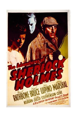 The Adventures of Sherlock Holmes - Movie Poster Reproduction Art Print