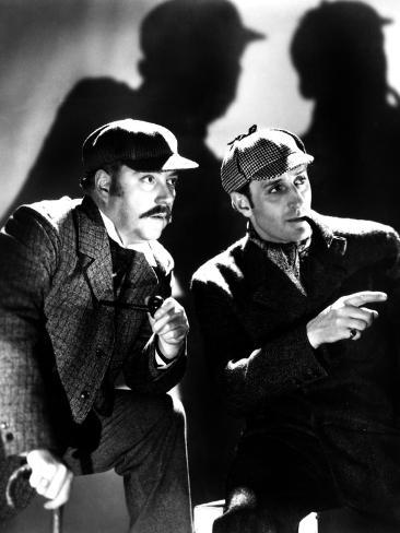 The Adventures of Sherlock Holmes, Nigel Bruce, Basil Rathbone, 1939, as Watson and Sherlock Holmes Fotografia