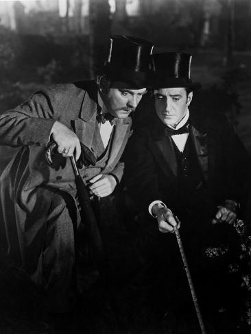 The Adventures Of Sherlock Holmes, Nigel Bruce, Basil Rathbone, 1939 Photo