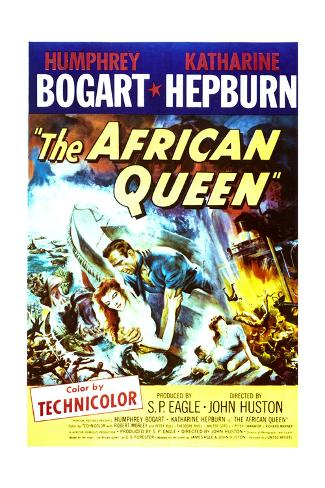 The African Queen - Movie Poster Reproduction Premium Giclee Print