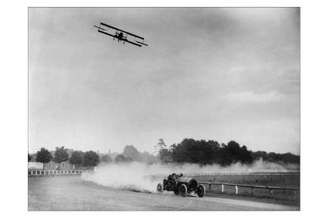 The Airplane Races the Automobile Wall Decal